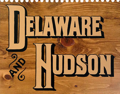 Hand painted signs for Delaware & Hudson in Brooklyn
