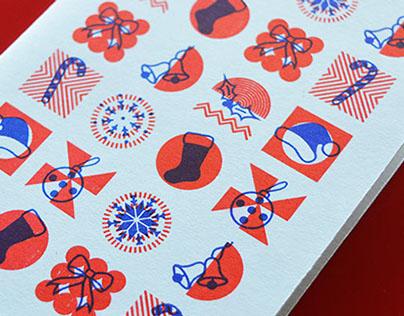 Riso Print Christmas Card // 2015