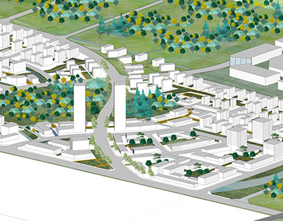 Urban Design Rendering in SketchUp without Photoshop