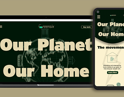 6 Green UI design