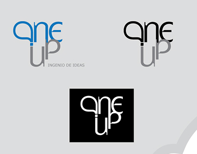 """Logotipo """"One up"""""""