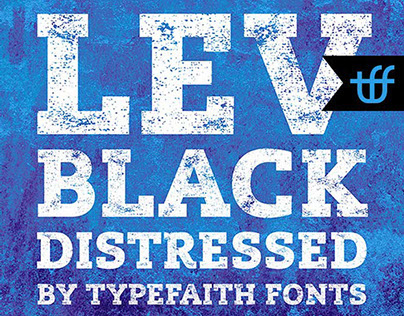 Free Font: Lev Black Distressed