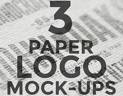 Free Download: 3 PSD Paper Logo Mock-Ups