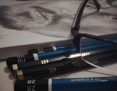 Illustration #1: Johny Depp on manual drawing