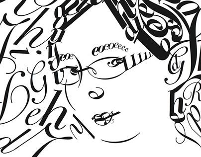 Self-Portrait in Type