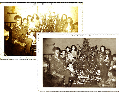Restoration of a Christmas photograph (c. 1956)