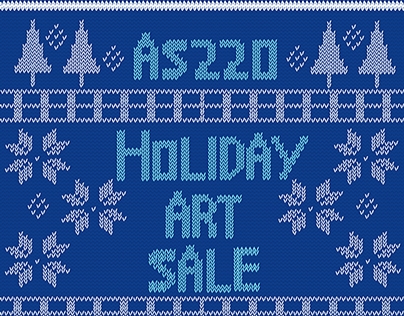 AS220 Holiday Art Sale Poster 2014