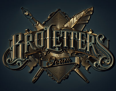Variations in 3D of Victor Kevruh's BroLetters design.