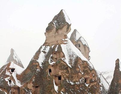Snow in Cappadocia