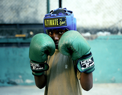 Boxing students