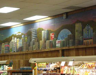 Los Angeles Landmark Panoramic Mural