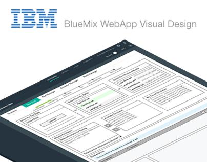 Visual Design - IBM - BlueMix WebApp Design