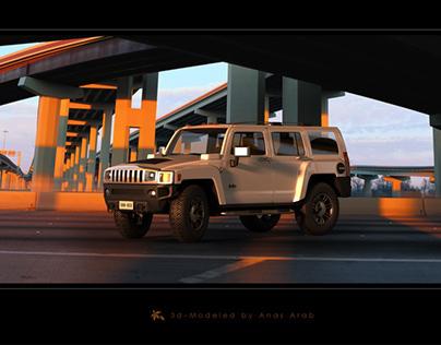3D Simulation of Hummer H3 - 3D model for sale