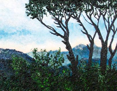 « Montagnes du Liban »   Oil Painting