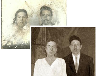 Restoration of a severely damaged photograph