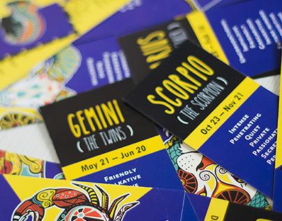 Zodiac Bookmarks from Inspiria