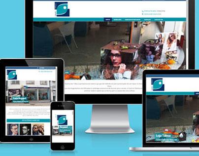 Website Centro Óptico de Tábua