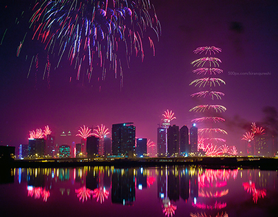 Burj Khalifa 2015 New Year Fireworks Show