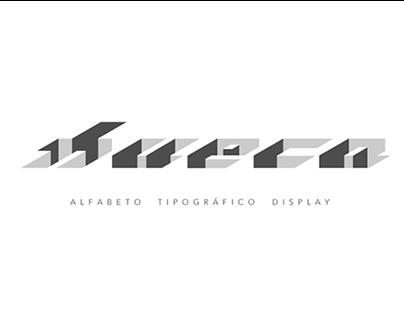 Hueca - Alfabeto Tipográfico Display