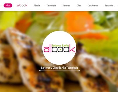Diseño y desarrollo sitio web eCommerce de AllCook
