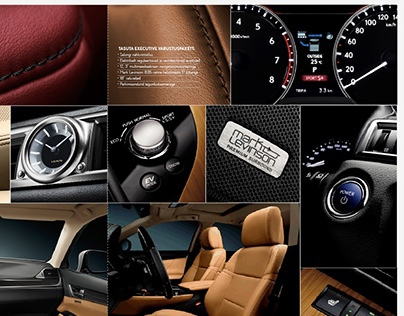 Lexus product collages for Eesti Ekspress & WhatCar