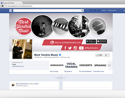 Mark Yandris Music Facebook Rebranding
