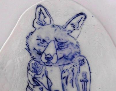 Ceramic drawings