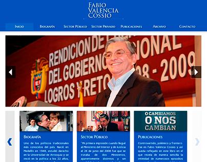Diseño y desarrollo sitio web de Fabio Valencia Cossio
