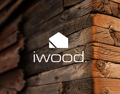 IWOOD   logo and branding