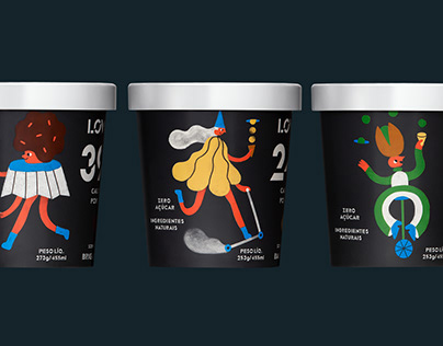 LOWKO Ice Cream - Character Design