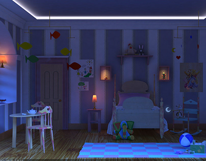 Digital Art Work interior artistic modeling & lighting