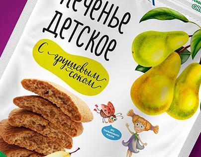 """Упаковка для детского печенья """"Fleur Alpine"""""""