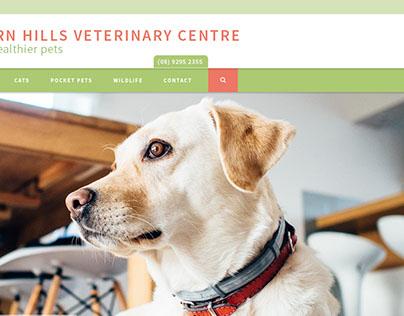 Vet homepage website design