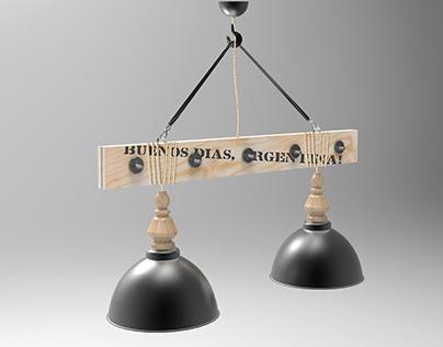 "Double lamp ""Argentina"""