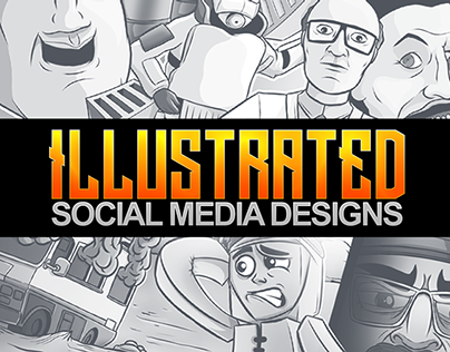 Illustrated Social Media Designs
