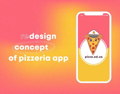 Design concept of pizzeria app