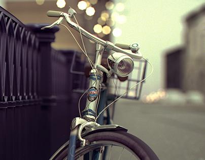 Vintage Bicycle CG Render