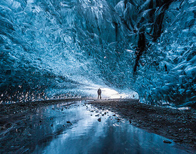 Northern lights Ice cave | Vatnajökull | Iceland