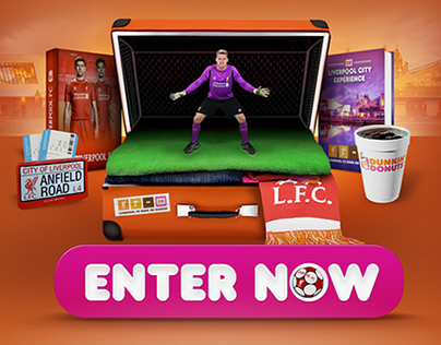 Dunkin' Donuts - LFC Penalty Game ( Mobile & PC ) HTML5