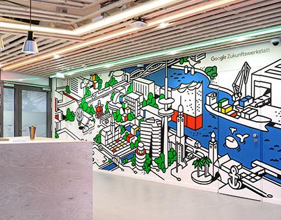Google Zukunftswerkstatt Art Wall
