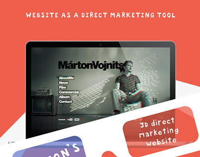 3D website + direct marketing