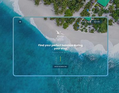 Kagi Maldives Spa Island | UI/UX | Redesign Concept