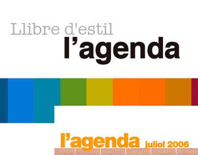"""Style book """"l'agenda"""""""