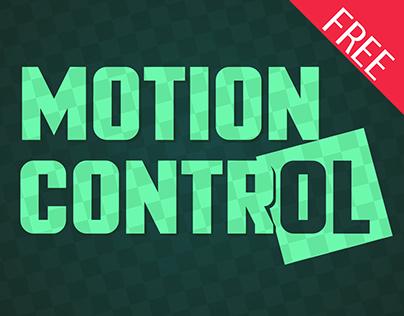 Motion Control: a Sturdily Built Font