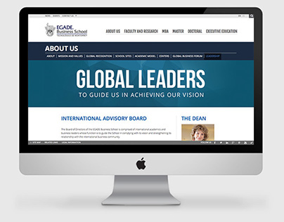 EGADE Business School - Website redesign