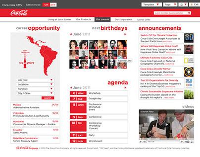 The Coca-Cola Company - Intranet proposal site