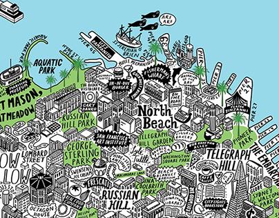 Hand Drawn Map of San Francisco