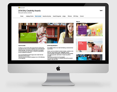 Microsoft 2014 EMy Creativity Awards - Contest website