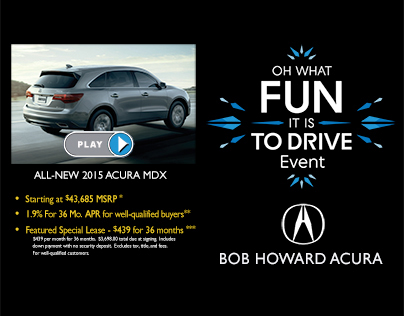 Video Email for Bob Howard Acura