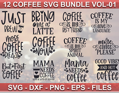 12 Coffee SVG Bundle